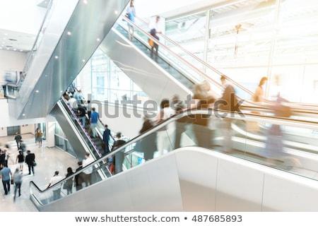 Personnes escalator affaires bureau construction design Photo stock © Nejron