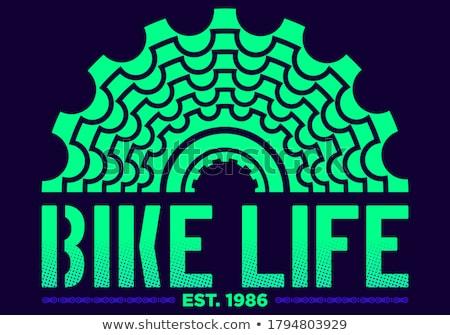 Stock fotó: Bicikli · grafika · szett · bicikli · terv · hegy