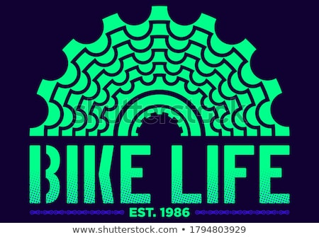 Bicikli grafika szett bicikli terv hegy Stock fotó © mikemcd