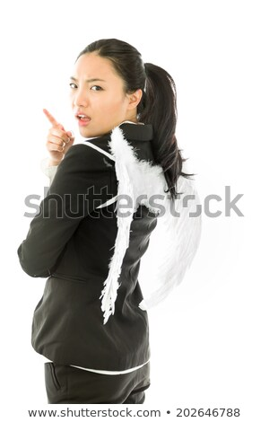 Asian young woman scolding someone isolated on colored background Stock photo © bmonteny