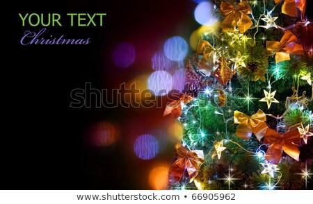 árvore de natal 2011 ano novo texto pintar cor Foto stock © timbrk