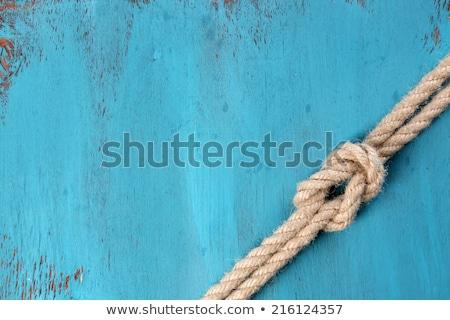 Morskich liny pokład plaży drewna projektu Zdjęcia stock © yelenayemchuk