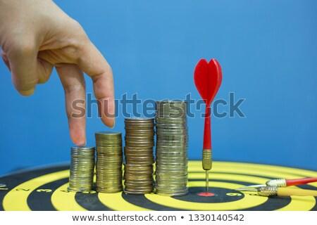 riqueza · gestão · vermelho · alvo · três - foto stock © tashatuvango