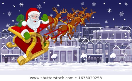 santa with his sleigh stock photo © beaubelle