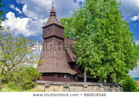 Bois église Slovaquie architecture Europe histoire Photo stock © phbcz