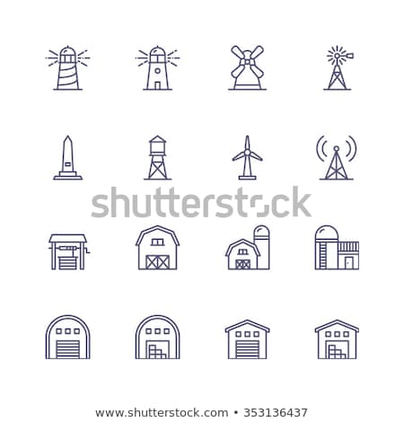 Wind Farm and Silo Stock photo © pictureguy