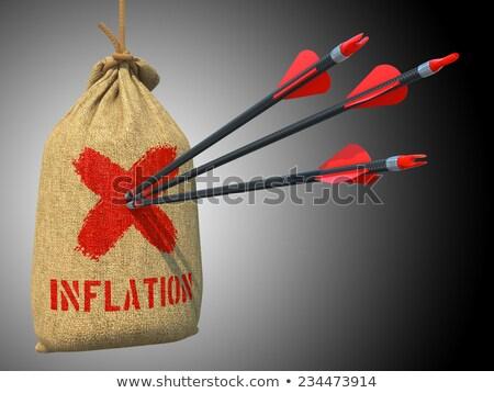 Inflación colgante tres flechas rojo Foto stock © tashatuvango