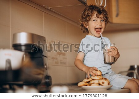 hungry young boy Stock photo © Dave_pot