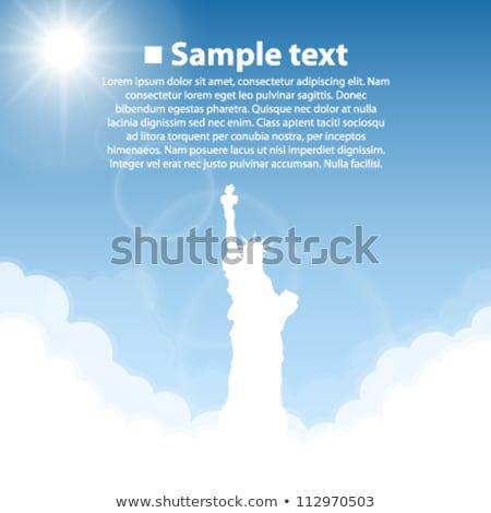 Vektör heykel özgürlük parlak güneş gökyüzü Stok fotoğraf © freesoulproduction