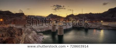híd · Hoover · Dam · Nevada · hdr · kép · építkezés - stock fotó © capturelight