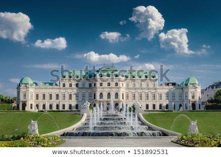 statua · barocco · castello · Vienna · Austria · cielo - foto d'archivio © dermot68