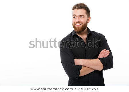 Happy smiling businessman looking away isolated on white Stock photo © czaroot