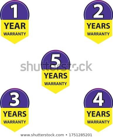 Jahre Garantie gelb Vektor Symbol Design Stock foto © rizwanali3d