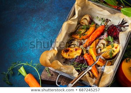 Delicious seasoned fresh roasted vegetables Stock photo © ozgur