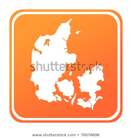Naranja botón imagen mapas Dinamarca forma Foto stock © mayboro