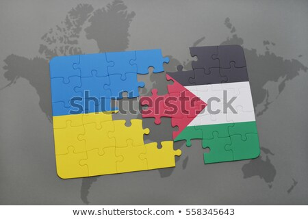 European Union and Palestine Flags in puzzle Stock photo © Istanbul2009