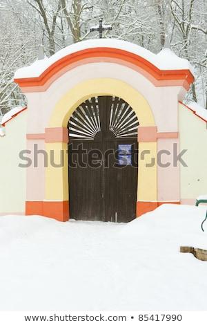 grounds of Church of Saint Peter and Paul, Lisna, Czech Republic Stock photo © phbcz