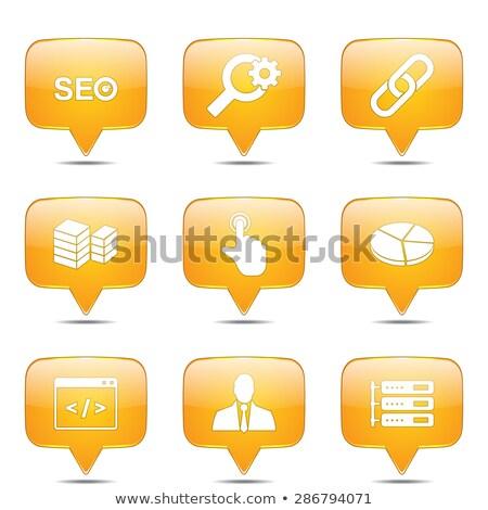 seo internet sign square vector yellow icon design set 11 stock photo © rizwanali3d