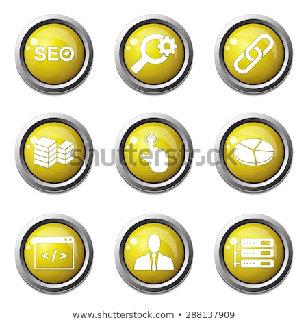 seo internet sign yellow vector button icon design set 11 stock photo © rizwanali3d