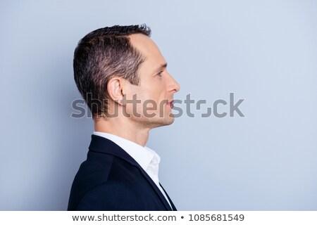 Nosić widoku biznesmen siwe włosy biały człowiek Zdjęcia stock © wavebreak_media