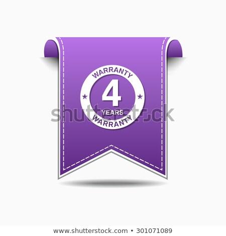 Anos garantia violeta vetor ícone projeto Foto stock © rizwanali3d