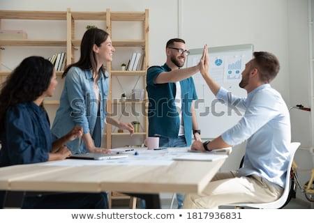 Femme d'affaires travail équipe compagnon bureau femme Photo stock © wavebreak_media