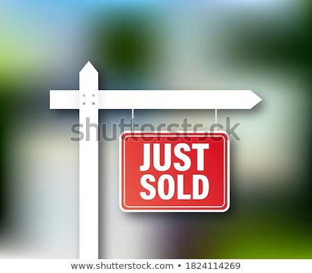 Sold message Stock photo © fuzzbones0