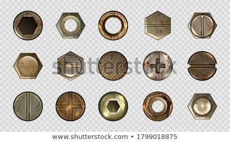 набор ржавые иконки крест молота Сток-фото © roverto