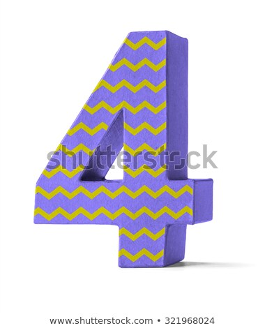 Colorful Paper Mache Number on a white background  - Number 45 Stock photo © Zerbor