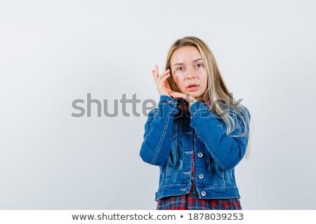 Delicate brunette lady posing Stock photo © oleanderstudio