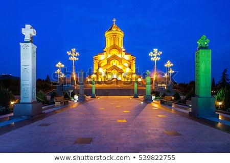 cathédrale · Géorgie · jardin · ciel - photo stock © joyr