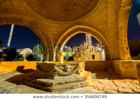 венецианский фонтан средневековых монастырь район Кипр Сток-фото © Kirill_M