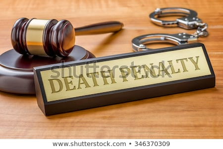 Stock photo: A gavel and a name plate with the engraving Death Penalty