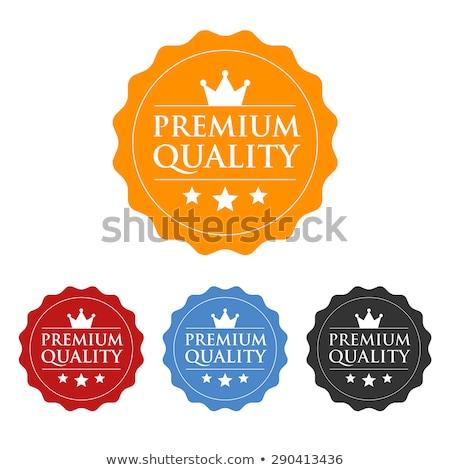 premium quality blue seal label vector icon stock photo © rizwanali3d