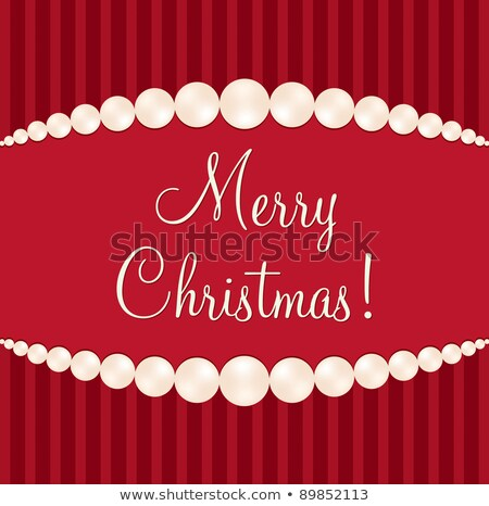 Gem Merry Christmas card in vector format. stock photo © piccola