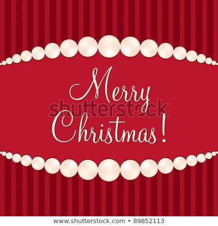 drágakő · vidám · karácsonyi · üdvözlet · vektor · formátum · boldog - stock fotó © piccola