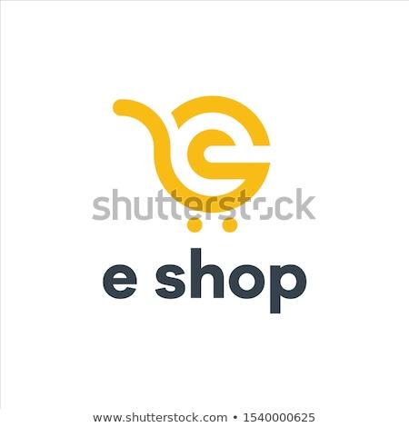 Ekereskedelem színes logo papír technológia vásárlás Stock fotó © shawlinmohd