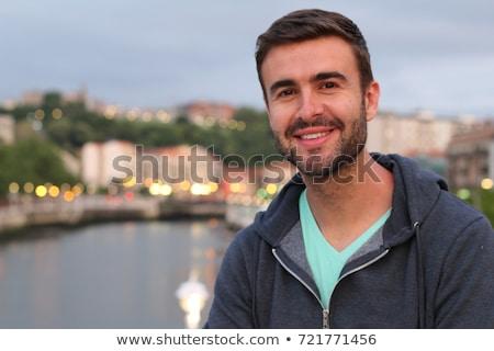 Portret 30 lat stary broda twarz człowiek Zdjęcia stock © zurijeta