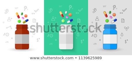 eldobható · teríték · szett · színes · műanyag · izolált - stock fotó © ironstealth