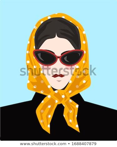 Bahar portre başörtü güzel kız beyaz Stok fotoğraf © seenad