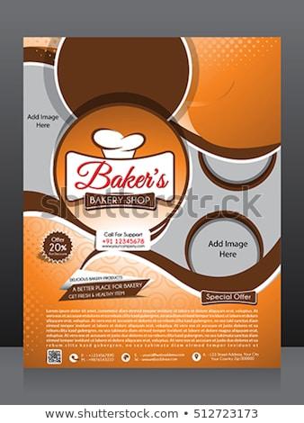 Absztrakt pékség bolt szórólap sablon terv Stock fotó © rioillustrator