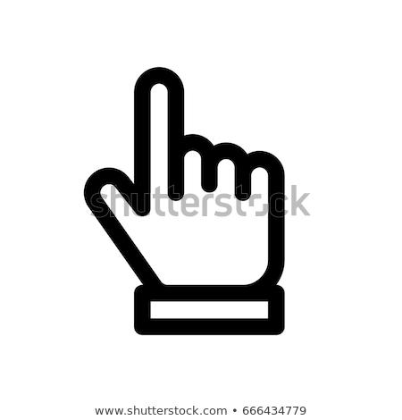 Finger pointing upward icons Stock photo © bluering