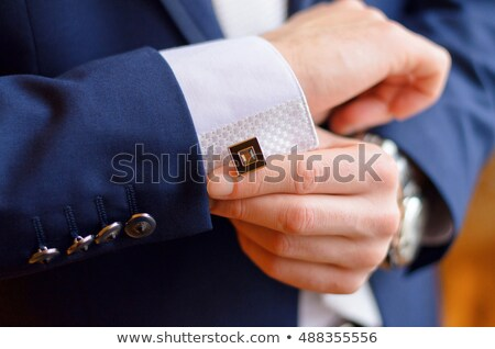 Blue cuff links Stock photo © goir