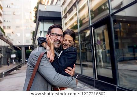 romântico · relação · trabalhar · casal · jovem - foto stock © pixinoo