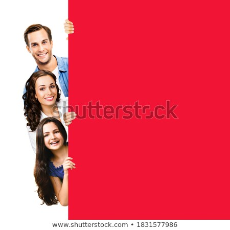 three red ad panels stock photo © magraphics