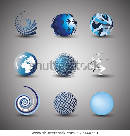 dotted curved glass arrows Stock photo © blackmoon979