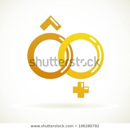 Iszik férfi női sziluettek jó szimbólum Stock fotó © comicvector703