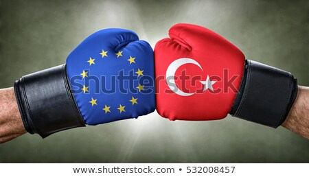 A boxing match between the European Union and Turkey Stock photo © Zerbor