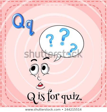 Flashcard letter Q is for quiz Stock photo © bluering
