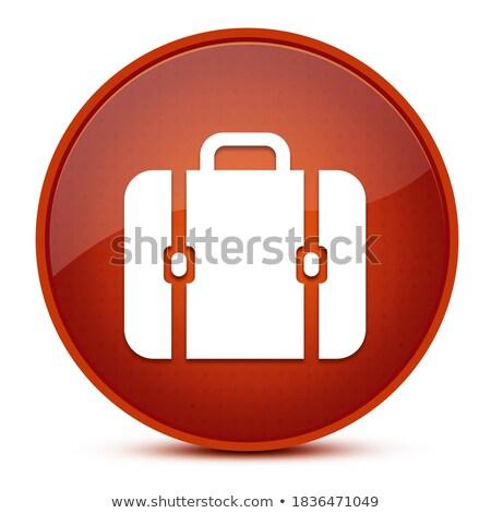 Sac icône brun bouton boîte Photo stock © faysalfarhan